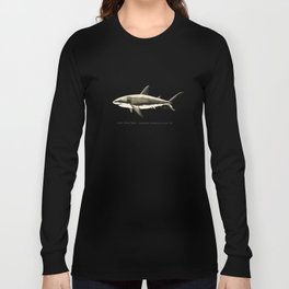 """Carcharodon carcharias II"" by Amber Marine  ~ Great White Shark Illustration, (Copyright 2015) Long Sleeve T-shirt"