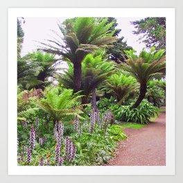 Prehistoric Tree Ferns Art Print