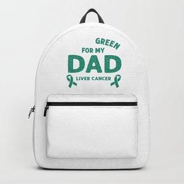 I Wear Green For My Dad Liver Cancer Awareness Backpack
