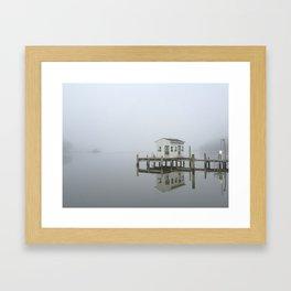 Eastern Branch Boat House Framed Art Print