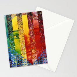 Conundrum I - Abstract Rainbow Goddess Stationery Cards