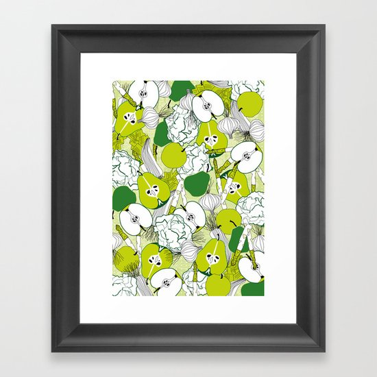 Vegetable pattern Framed Art Print