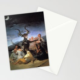 The Sabbath Of Witches Francisco Goya  Stationery Cards