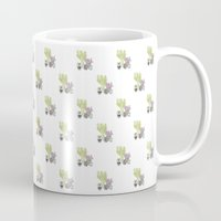 cactus Mugs featuring Cactus by Olivia James