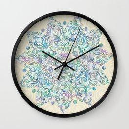 Mermaid Dreams Mandala Wall Clock