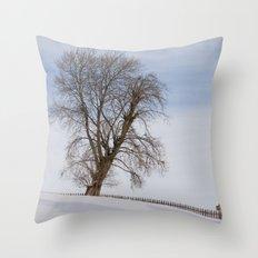 In white Throw Pillow