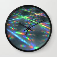 hologram Wall Clocks featuring Laser Paper by Griffin Lauerman