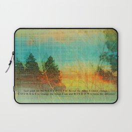 Serenity Prayer Colorful Trees Laptop Sleeve