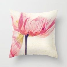 Isis. Poppy flower photograph Throw Pillow