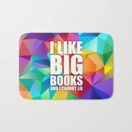 I like big books... Inspirational Quote Bath Mat