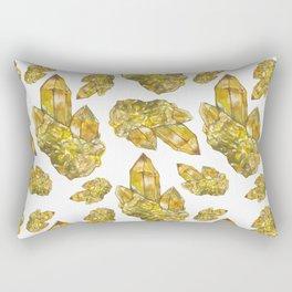 Citrine November Birthstone Watercolor Rectangular Pillow
