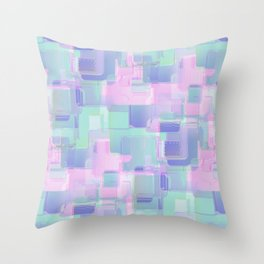Abstraction. Pink and blue brush strokes. Throw Pillow