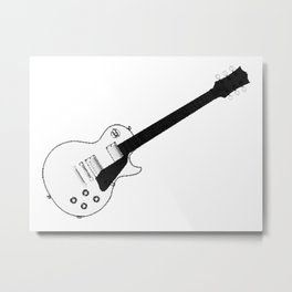 Halftone Electric Guitar Metal Print