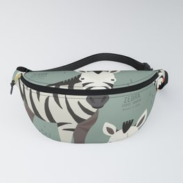 Zebra, African Wildlife Fanny Pack