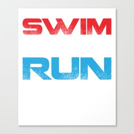 Swim Bike Run 1.3 56 13.1 Half Triathlon T-Shirt Canvas Print