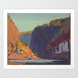 Tom Thomson - Petawawa Gorges - Canada, Canadian Oil Painting - Group of Seven Art Print