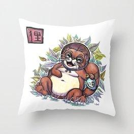 Legends - Tanuki Throw Pillow
