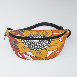 Doodle Flowers One Fanny Pack