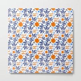 Gorgeous Blue and Orange Feminist Killjoy Print Metal Print