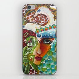 The Girl and The Bird 2 iPhone Skin