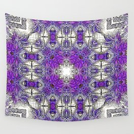 Palm Leaves Abstract Art Pattern Wall Tapestry