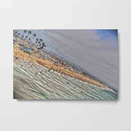 Beach Painting. Metal Print