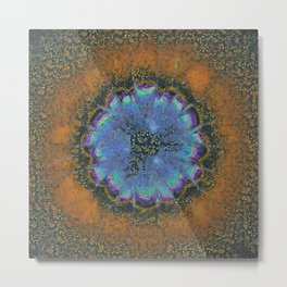 Commits Fancy Flower  ID:16165-142359-28270 Metal Print