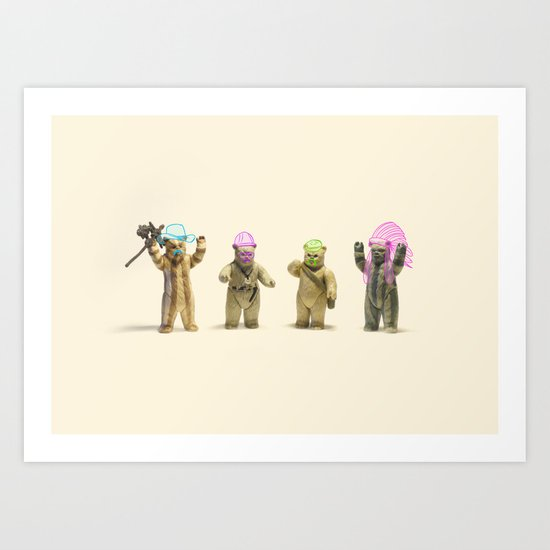 Ewok Village People Art Print
