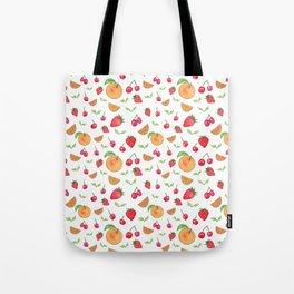 Oranges & Strawberries Pattern Tote Bag