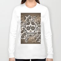 sugar skulls Long Sleeve T-shirts featuring Sugar skulls by nicky2342