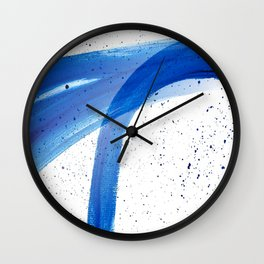 Abstract Acrylic Painting Blues Series 4 Wall Clock