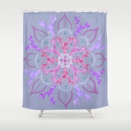 Lobster Flower Pink Shower Curtain