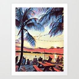 Sunset Paradise Art Print