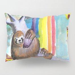 sloth pizza rainbow Pillow Sham