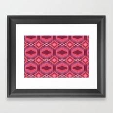Tribal Red Framed Art Print