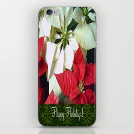 Mixed Color Poinsettias 2 Happy Holidays S6F1 iPhone Skin