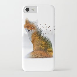 Wild I Shall Stay | Fox iPhone Case