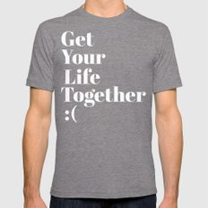 Get Your Life Together Mens Fitted Tee SMALL Tri-Grey