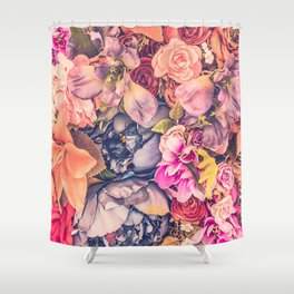 Beautiful background with different flowers Shower Curtain