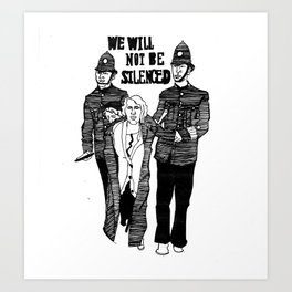 We Will Not Be Silenced III Art Print