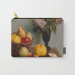 Henri Fantin-Latour - Still Life with Flowers and Fruit (1866) Carry-All Pouch