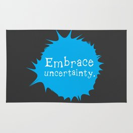 """Embrace Uncertainty"" by Reformation Designs Rug"