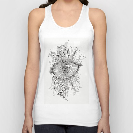 black and white abstraction Unisex Tank Top