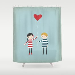 Love is in the Air - Girl Shower Curtain