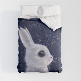 Winter bunny Comforters