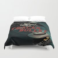 hobbes Duvet Covers featuring Calvin & Hobbes: Tracer Bullet Alternate by Gallery 94