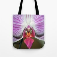 orchid Tote Bags featuring Orchid  by Sammycrafts