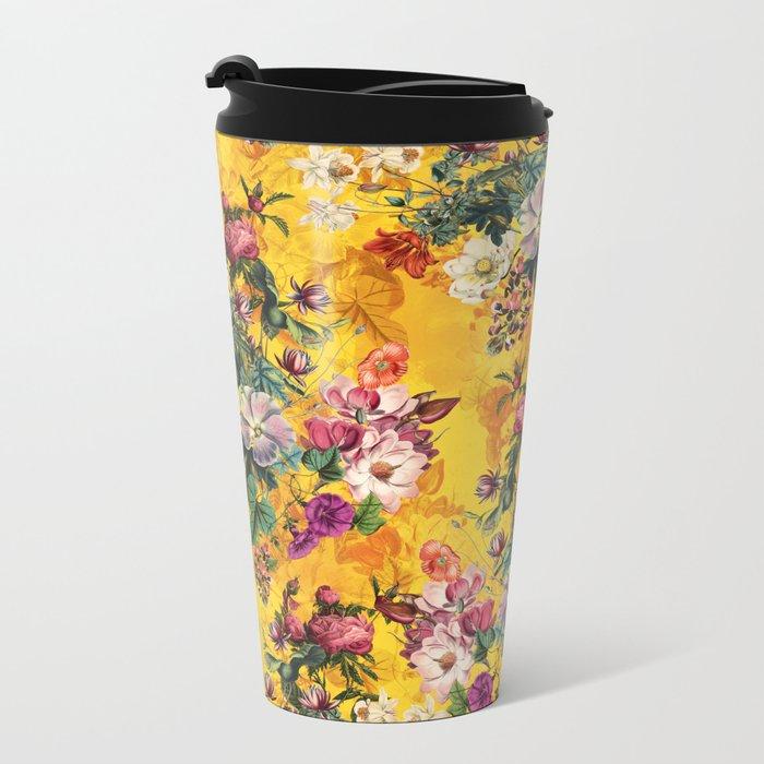 Summer Botanical Garden IX Metal Travel Mug