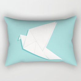 Origami pigeon Rectangular Pillow