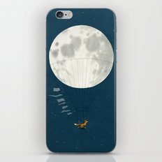 Full moon and foxes iPhone Skin